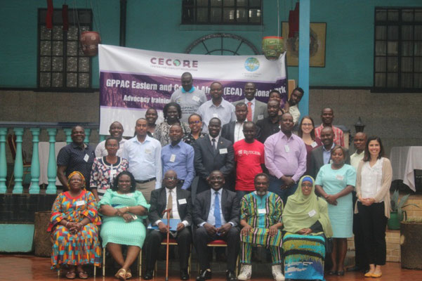 GPPAC -ECA members and partners  in Kampala -Uganda during the advocacy training and Regional Steering Group meeting 2018