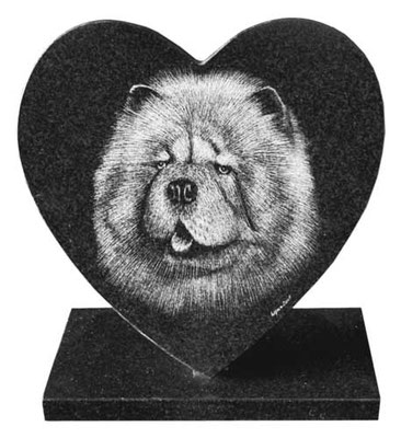 Animal gravé sur plaque funéraire