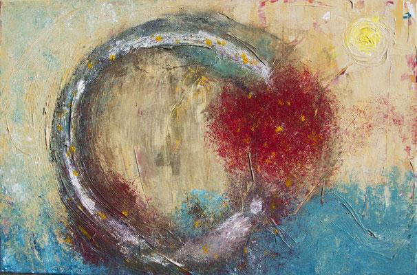 Circle of Life, 60x40 cm, Acryl auf Leinwand, 2013