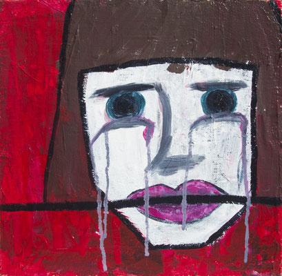 Silent Tears, 40x40 cm, Acryl auf Leinwand, 2015