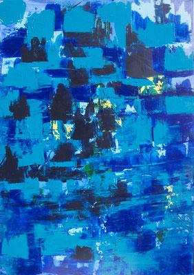 Deep Sea, 70x100 cm, Acryl auf Leinwand, 2016