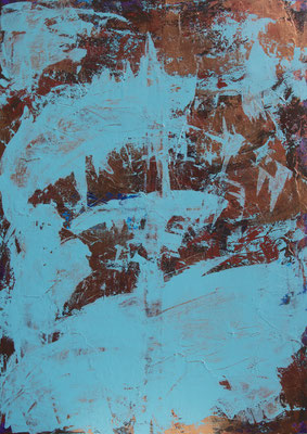 Copper Time II, 70x100, Acryl auf Leinwand, 2016