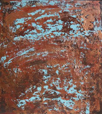Copper Time I, 50x60 cm, Acryl auf Leinwand, 2016 – VERKAUFT –