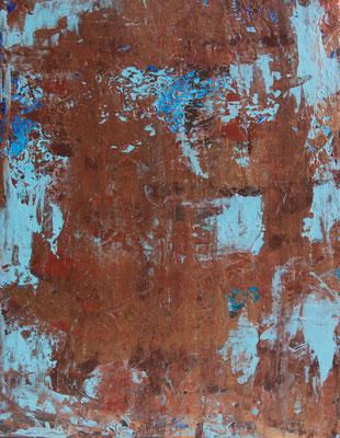 Copper Time V, 30x40 cm, Acryl auf Leinwand, 2016 –VERKAUFT–