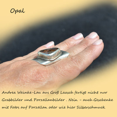 Andrea Weinke-Lau, Andrea Weinke-Lau aus Groß Laasch fertigt nicht nur  Grabbilder und Porzellanbilder . Nein - auch Geschenke  mit Fotos auf Porzellan oder wie hier Silberschmuck