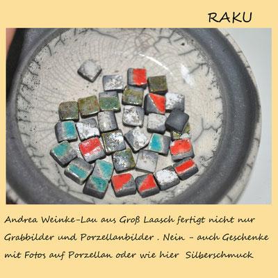 Andrea Weinke-Lau, Raku-Ohrstecker,