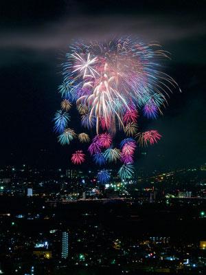 入選:夏夜の大花:白井康雄