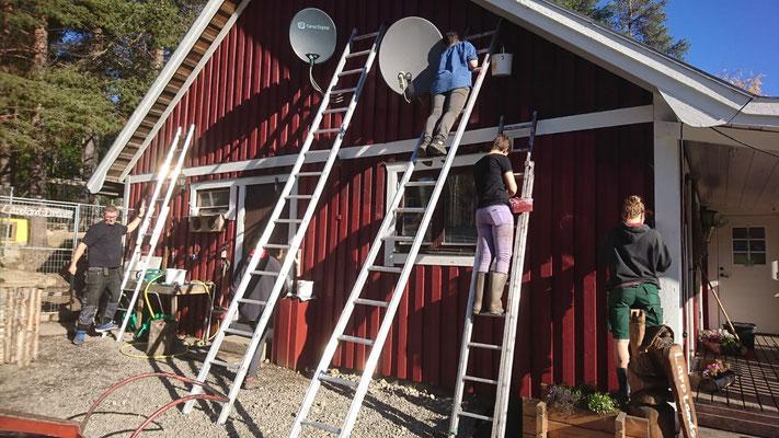 Unser Farmhaus wird  neu gestrichen