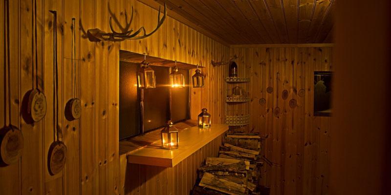 Teil der Sauna