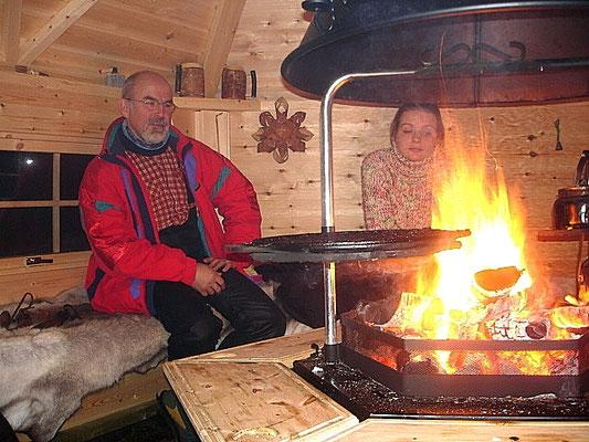 Grillhütteabend in Lappland