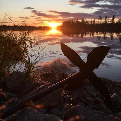 Mitternachtssonne in Lappland/Schweden