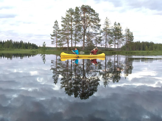 Kanu & Lappland = Spaß & Erholung