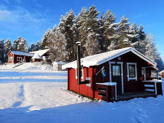 Eine unserer Blockhütten