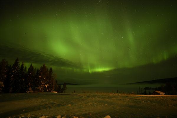 Polarlichter Show in Nordschweden
