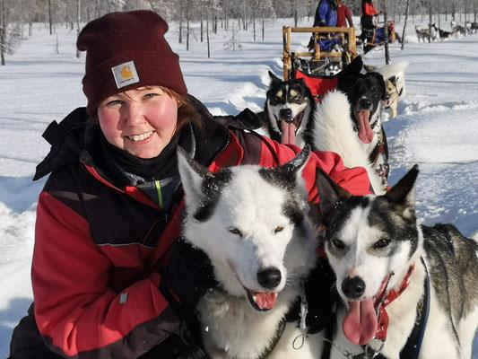 Huskytour im Winterparadies