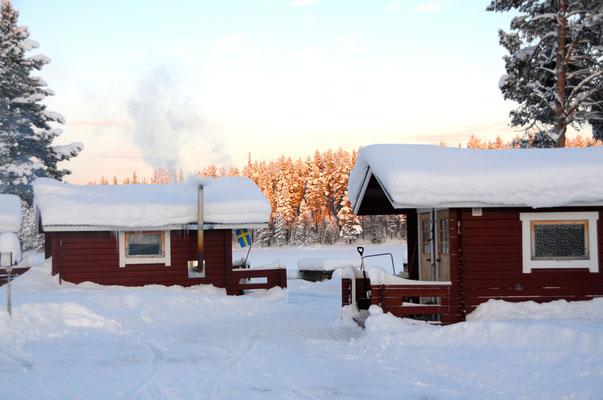 Gästehütten in Schweden