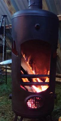 Kaminfeuer sorgt für Wärme und Gemütlichkeit