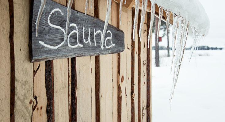 Sauna am Flussufer