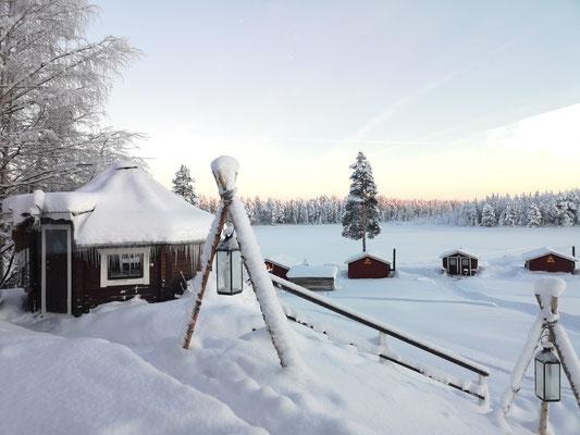 Ein paradisischer Winter beginnt bei uns in Lappland