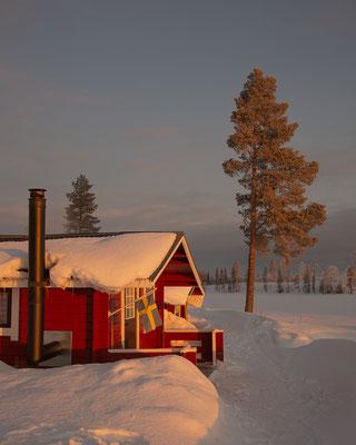 Winterurlaub auf einer Huskyfarm - Lapplands Drag