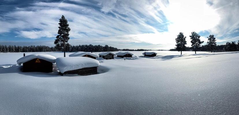 Winterurlaub in Schweden, Lappland