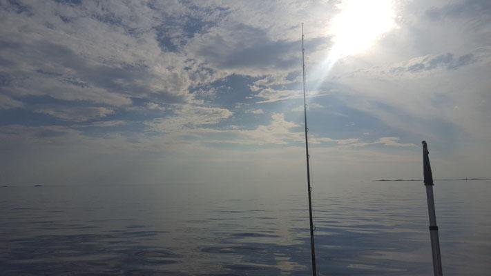 Klare See vom Boot aus