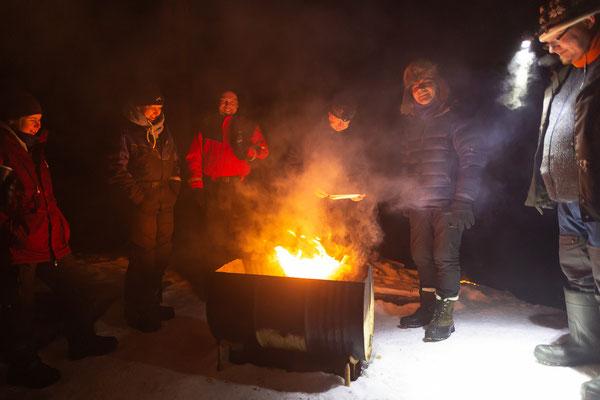 Windschutz Abend auf unserer einsamen Insel - Lapplands Drag