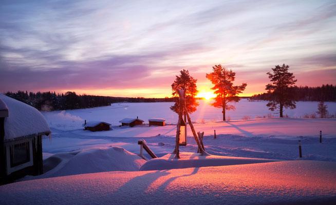 Sonnenaufgang über unserer Huskyfarm
