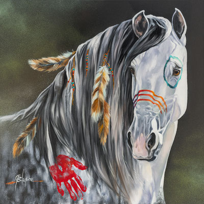 THE LOOK WAR PONEY, 30 x 30 (76cm x 76cm) 2016