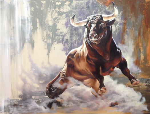 FIERTÉ ET COURAGE I, huile et acrylique 30 x 40 (76cm x102 cm)_VENDU 2017