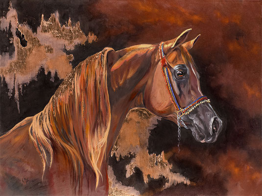 TITAN CABALLO DE REY, technique mixte 30x40 (76cm x 102cm)) 2013 c