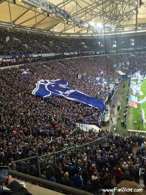Choreo der Fans von Schalke 04. Foto: Marco Glausch (via Facebook).