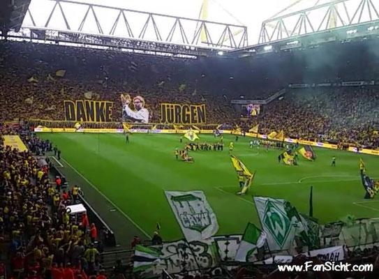 Choreographie der Fans von Borussia Dortmund. Foto: Onur Bir (via Facebook).
