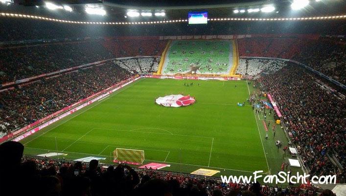 Choreographie der Fans des FC Bayern München. Foto: Pierre A-Dise (via Facebook).