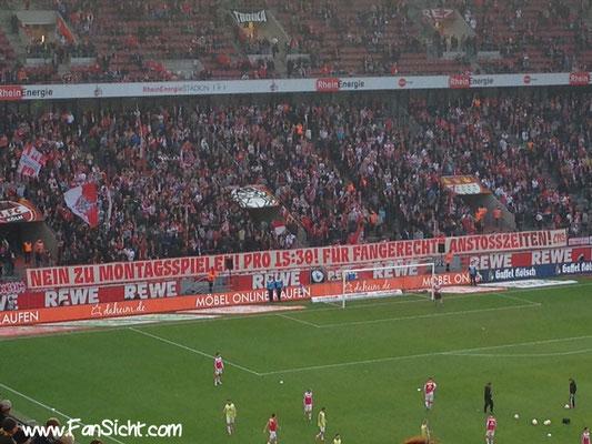 Choreo der Fans vom 1.FC Köln.