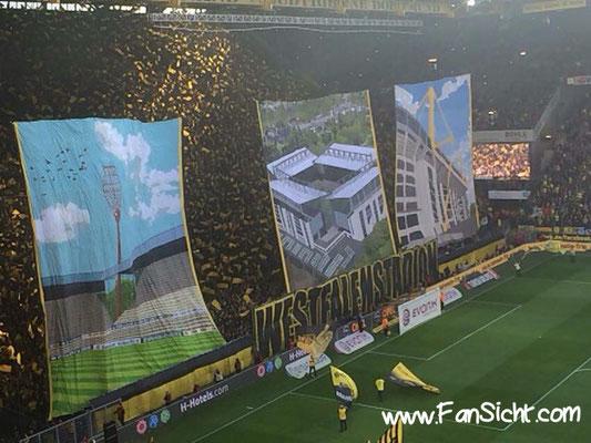 Choreographie der Fans von Borussia Dortmund . Foto: Marco Rieke (via Facebook).
