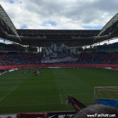 Choreographie der Fans von RB Leipzig. Foto: Be Ka Punkt (via Facebook).