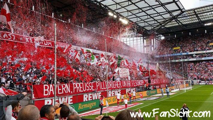 Choreographie der Fans vom 1. FC Köln . Foto: Dennis Fehr (via Facebook).
