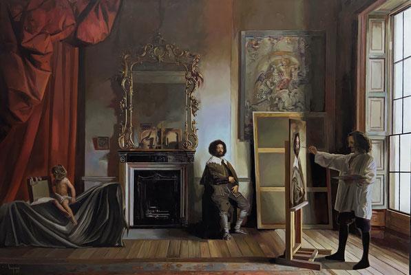 """""""El esclavo de Velázquez"""". Óleo sobre lienzo.Oil in canvas. 81 x 54 cm. 2021"""