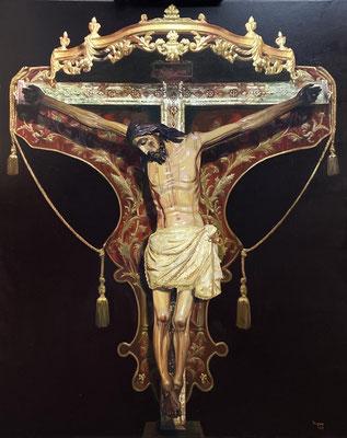 Cristo de San Pedro de Marchena. Óleo sobre lienzo 2020. 100 x 81 cm