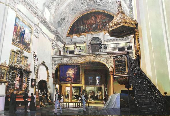 """""""El Expolio"""". Óleo sobre lienzo 170 x 115 cm"""