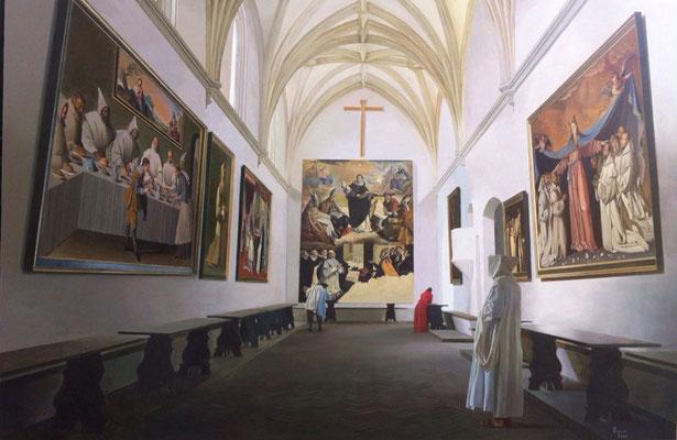 Homenaje a Zurbarán. Tribute to Zurbarán. Óleo sobre lienzo. Oil in canvas. 2 m x 1,35 cm