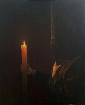 Tinieblas. Óleo sobre lienzo. Oil in canvas. 100 x 81 cm