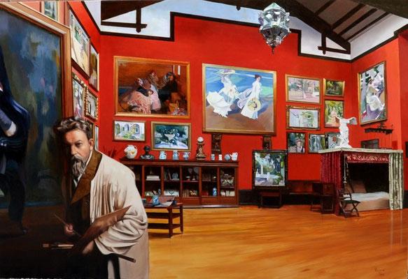 Estudio de Sorolla . Óleo sobre lienzo . Sorolla´s studio. Oil in canvas 2 m x 1,35 cm