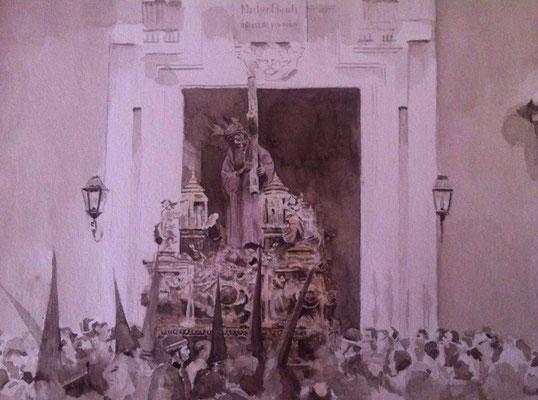 Gran Poder 1914. Watercolor