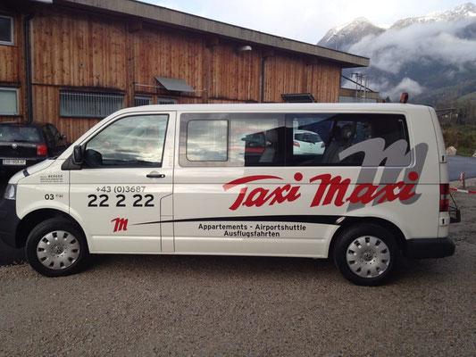TAXI MAXI, Schladming: Autobeschriftung