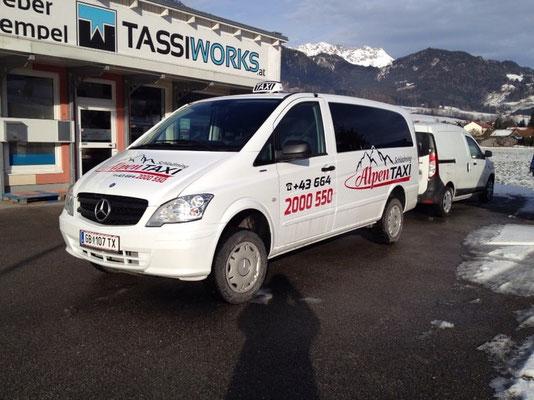 Alpentaxi, Schladming: Autobschriftung