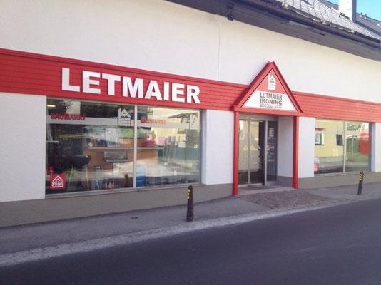 Baumarkt Letmaier, Irdning: Plexglasbuchstaben