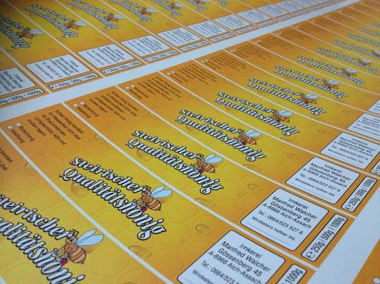 Etiketten Aufkleber Bienne Honig Imkerei