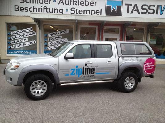 ipline, Stoderzinken-Gröbming: Autobeschriftung